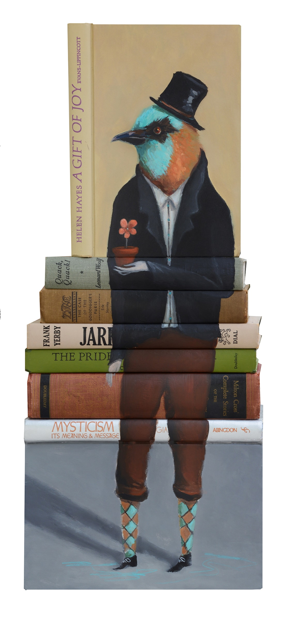 Mike Stilkey arte con libros