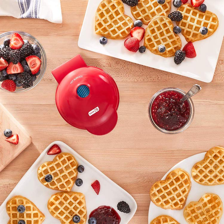 Mini Heart-Shaped Waffle Maker