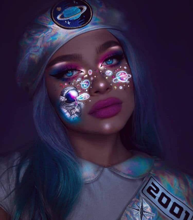 Neon Makeup Art by Rita Synnøve Sharma