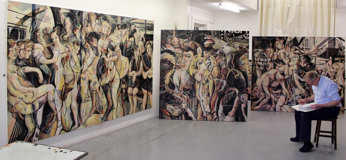 Pinturas abstractas al óleo multidimensionales por Clive Head