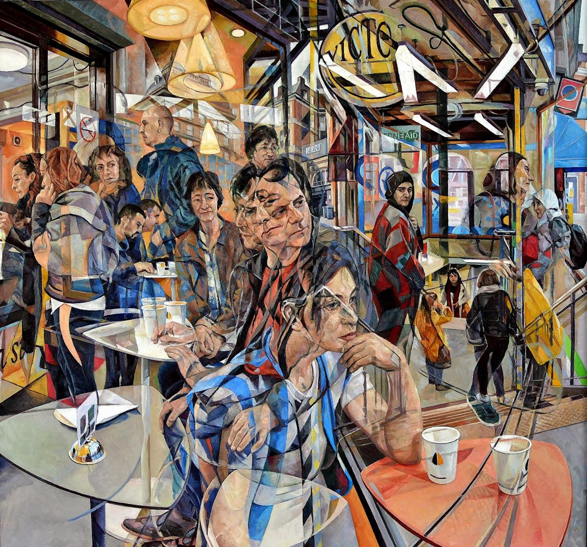 Pinturas abstractas al óleo por Clive Head