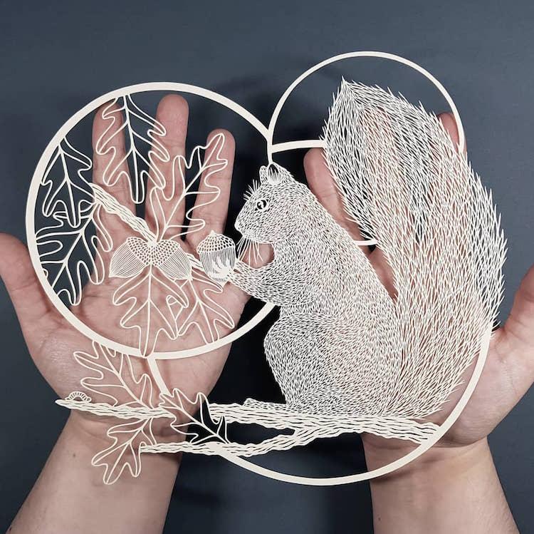 Arte del Papel Cortado por Pippa Dyrlaga