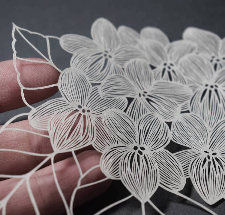 Paper Cutting art by Pippa Dyrlaga