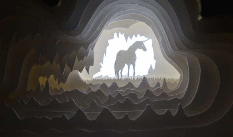 Paper Light Box Art by Aline Maire Abracadaboxes