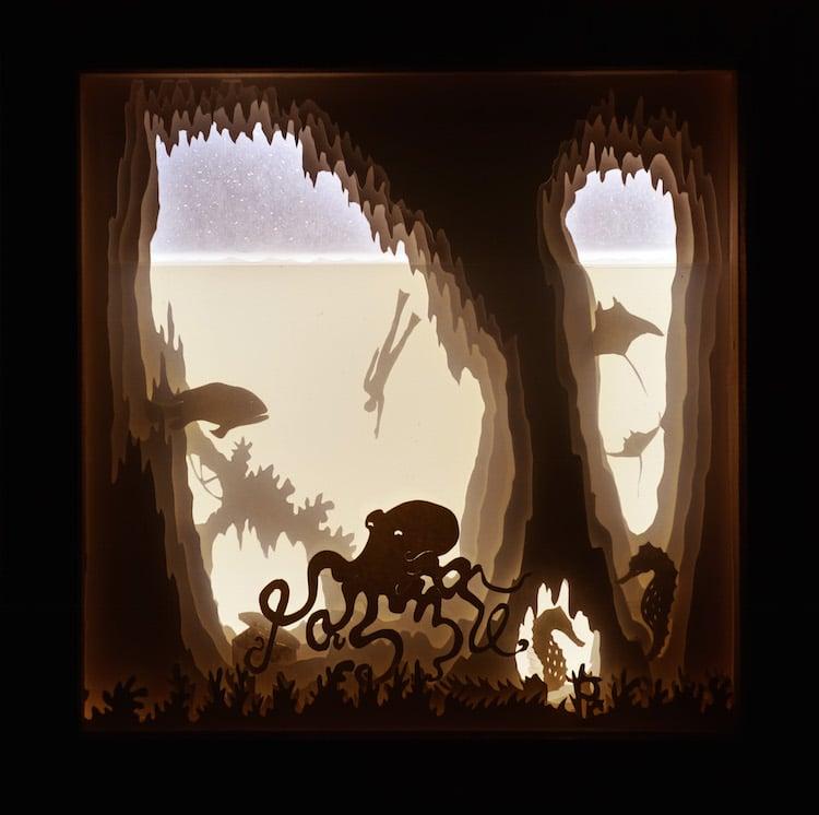 Paper Light Box Art by Aline Maire Abracadaboxes
