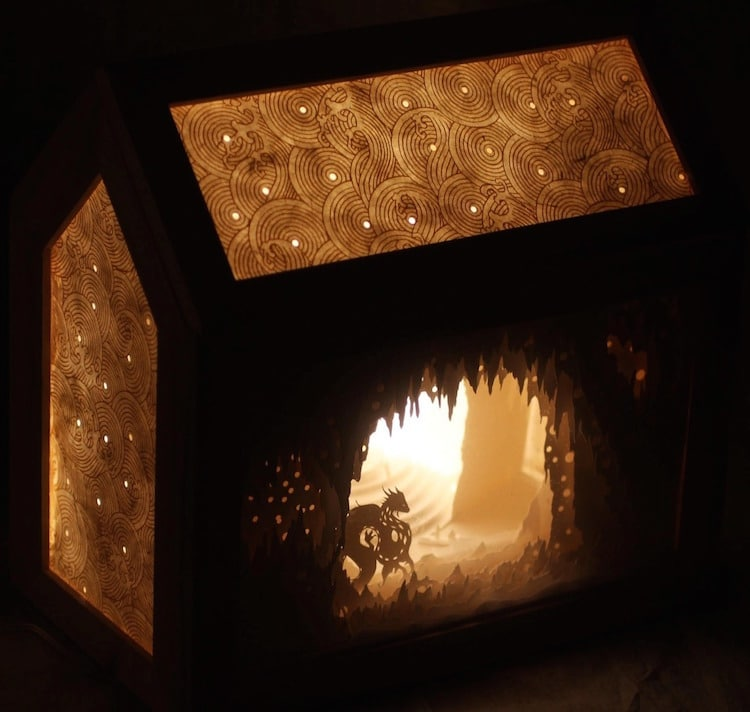 Paper Light Box Art by Aline Maire