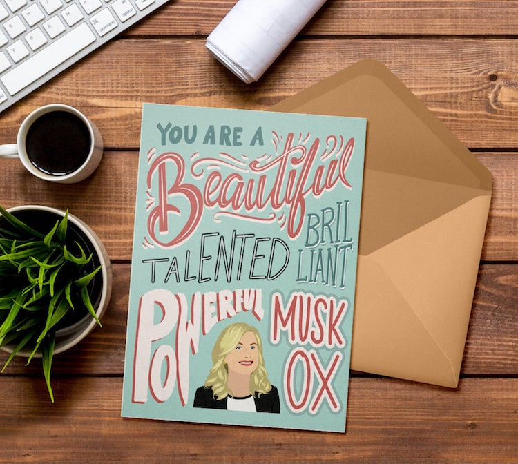 Parcs and Rec Galentine's Day Card
