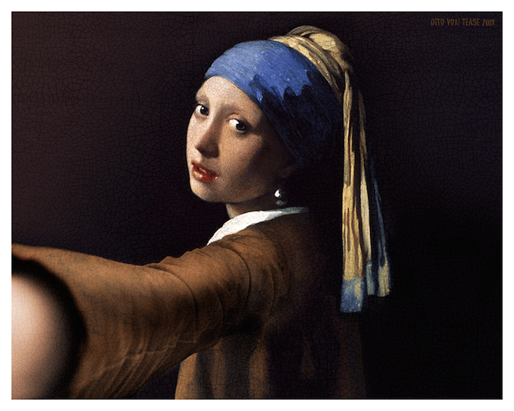Portrait Paintings Selfie Classicool by Dito Von Tease