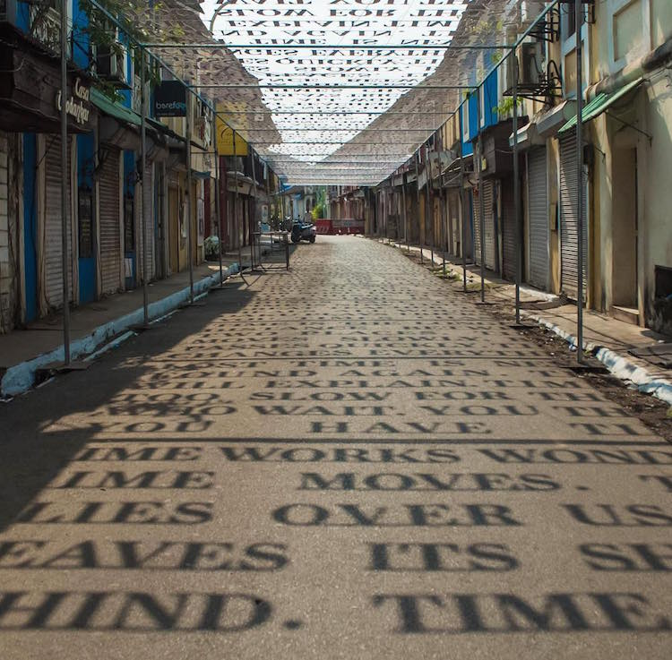 Shadow Art Installation Theory of Time by DAKU