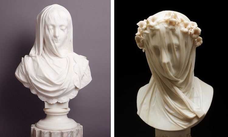 The Veiled Virgin Sculpture Veiled Sculpture Marble Sculpture Veil Veiled Statue