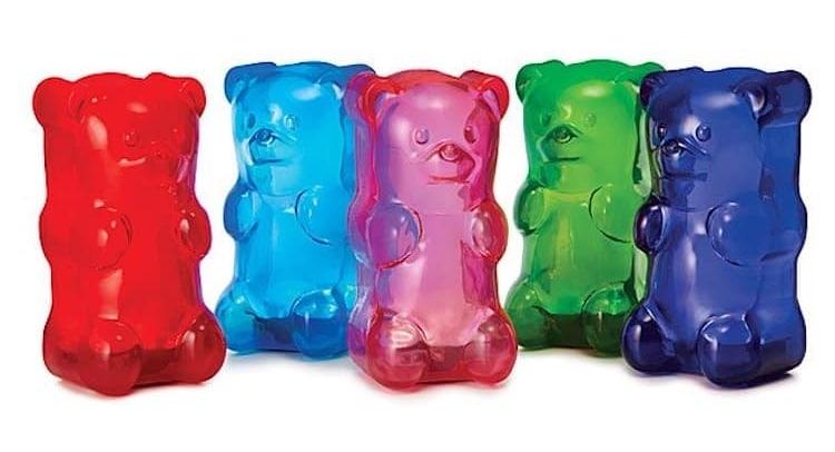 Lámparas de oso de gomita