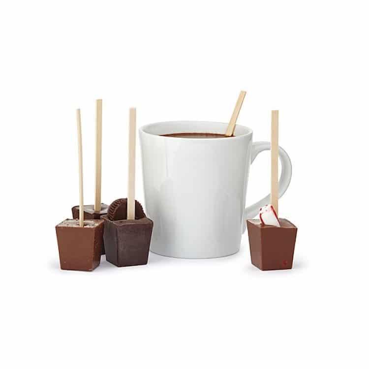 Chocolate caliente en palitos