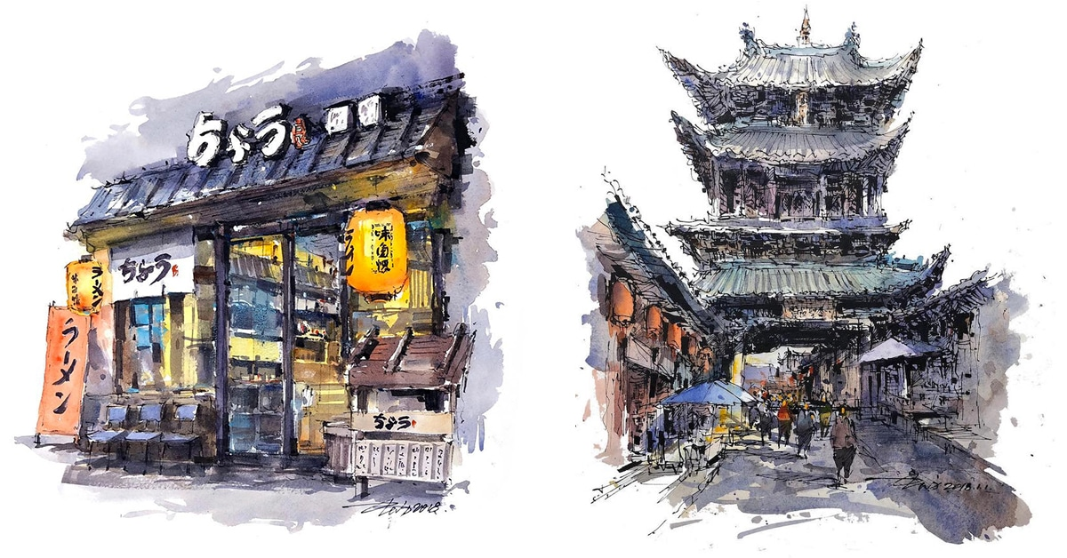 watercolor-sketch-paintings-zhifang-shi-thumbnail-1 Painting Inside Home Design on trim inside home, painters inside home, bathroom inside home, painting bottles, mural inside home, painting toys, painting beauty, wood inside home, fencing inside home, paint inside home, decorating inside home, bowling inside home, design inside home, flowers inside home, windows inside home, painting office, painting outside home, tiny house inside home, water damage inside home, painting your house interior ideas,