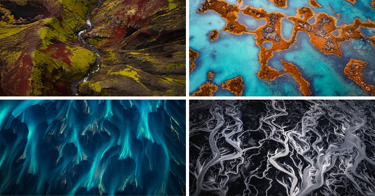Breathtaking Aerial Photos Reveal How Iceland Looks Like a Series of Beautiful Paintings