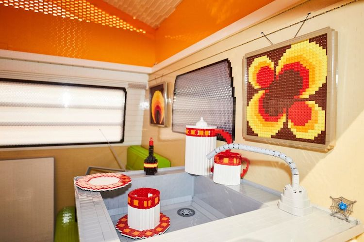 Volkswagen Camper Made of LEGO