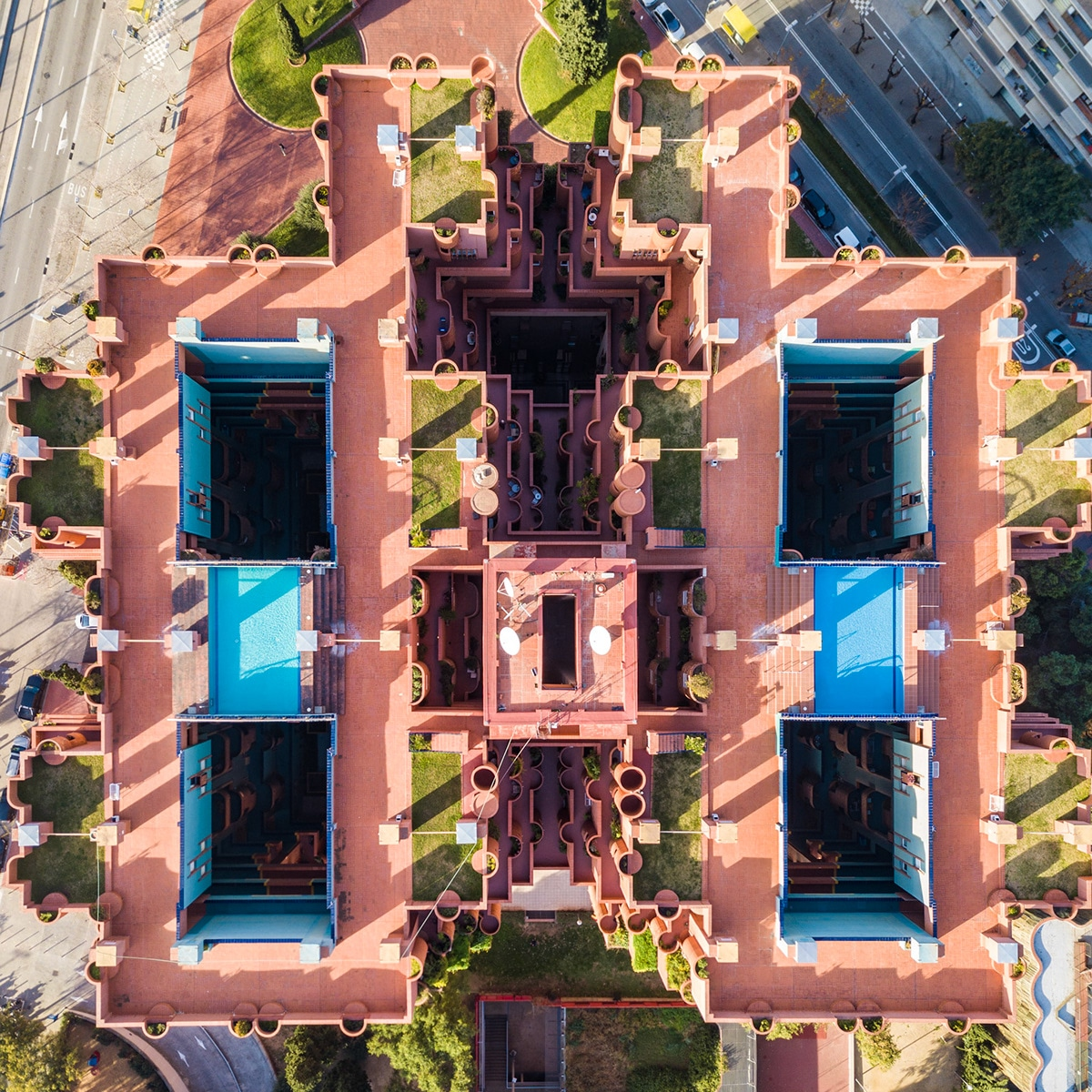 Aerial Photos of Barcelona by Márton Mogyorósy
