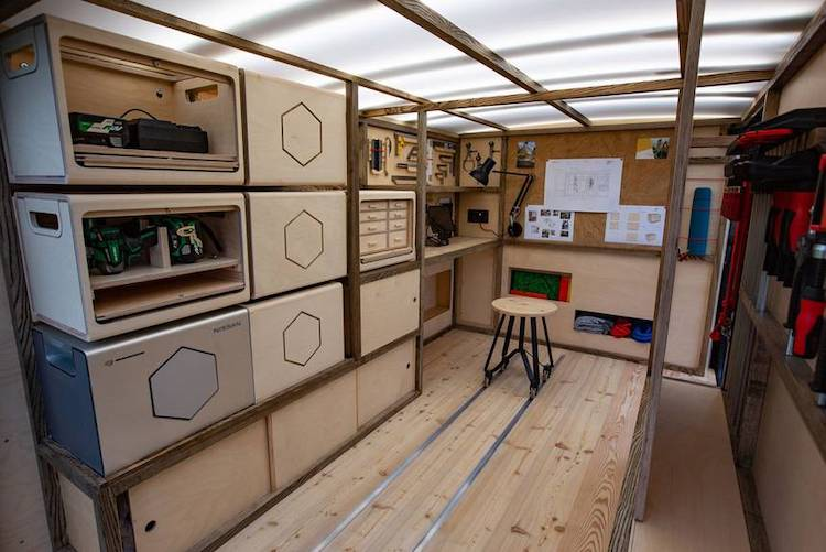Nissan NV300 Transformed Into a Woodworker's Dream Workshop
