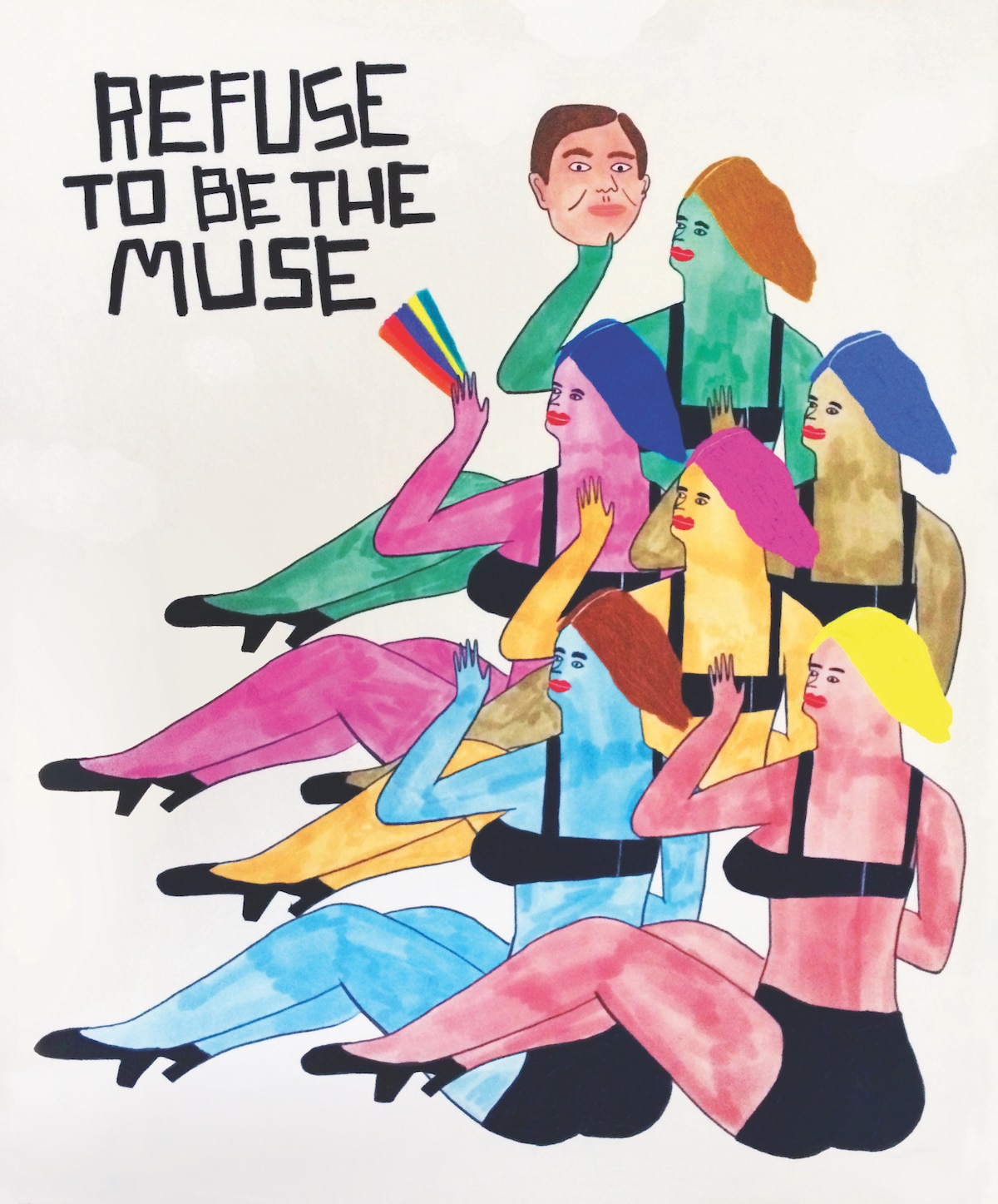 Saatchi - Refuse to Be the Muse catálogo mujeres artistas