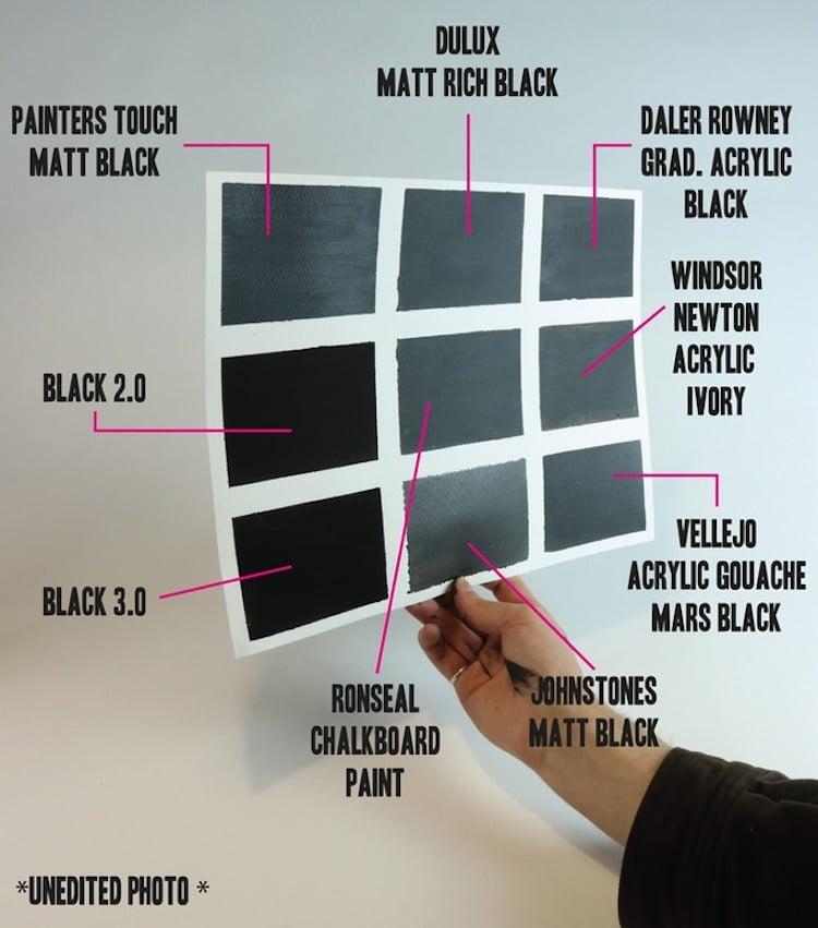 Pintura negra acrílica negro más negro del mundo