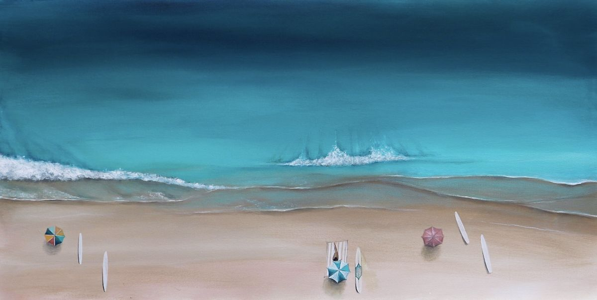 Ocean Wave Paintings by Bree Brooks
