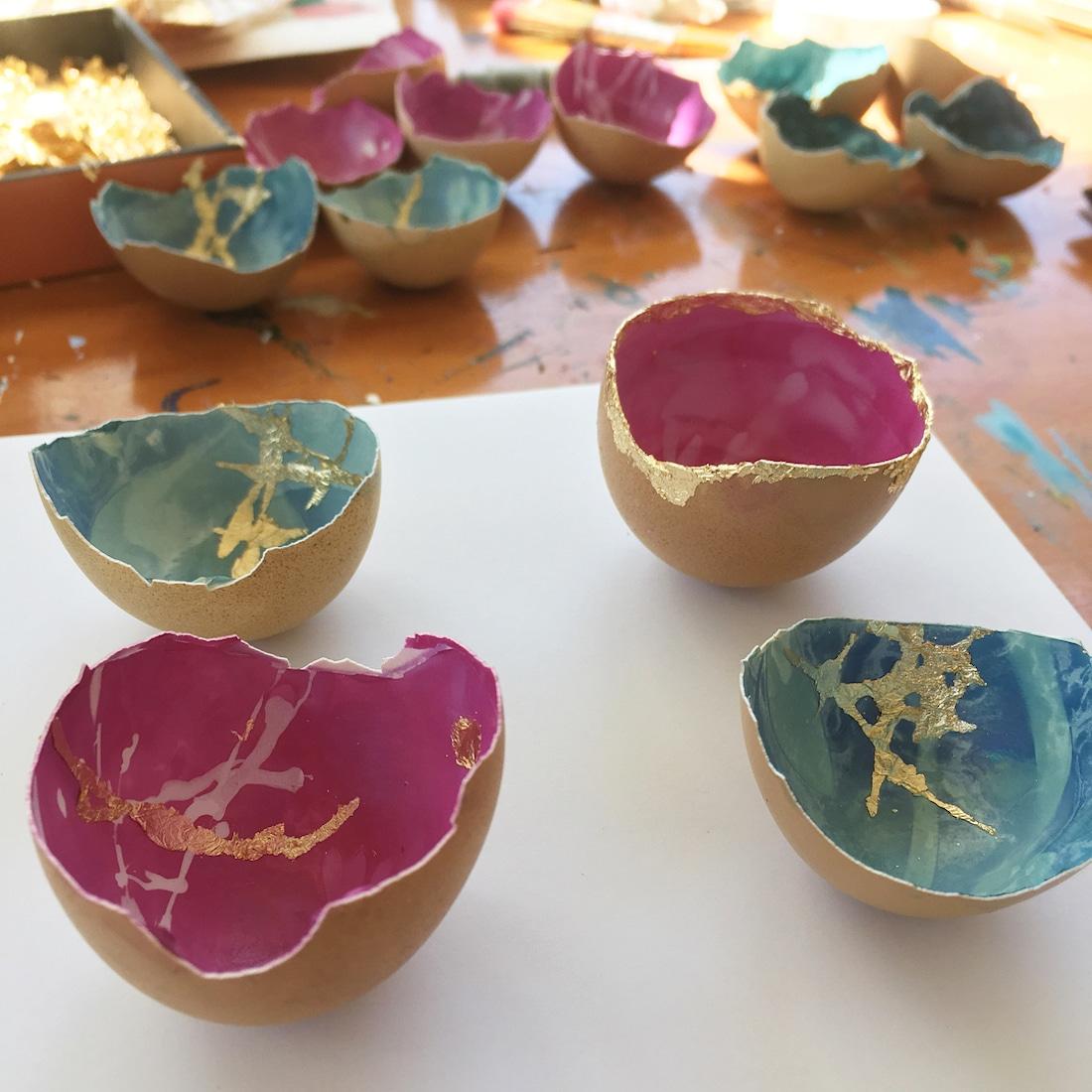 Contemporary Kintsugi Eggshells Kintsugi Eggs Elisa Sheehan