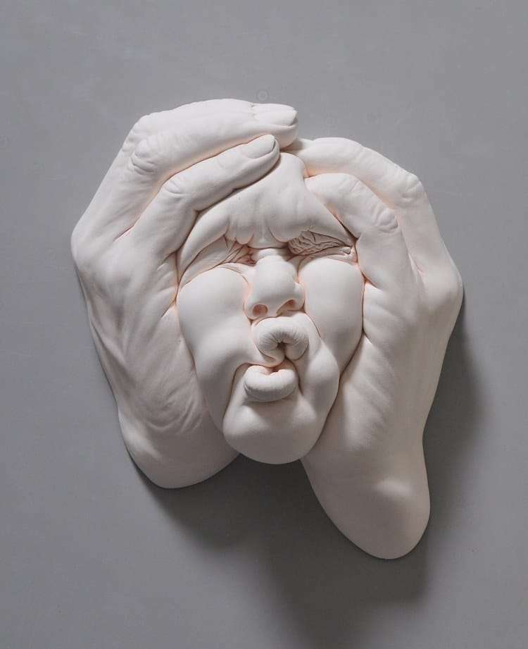 Lucid Dream II Clay Face Sculptures Surreal Face Johnson Tsang