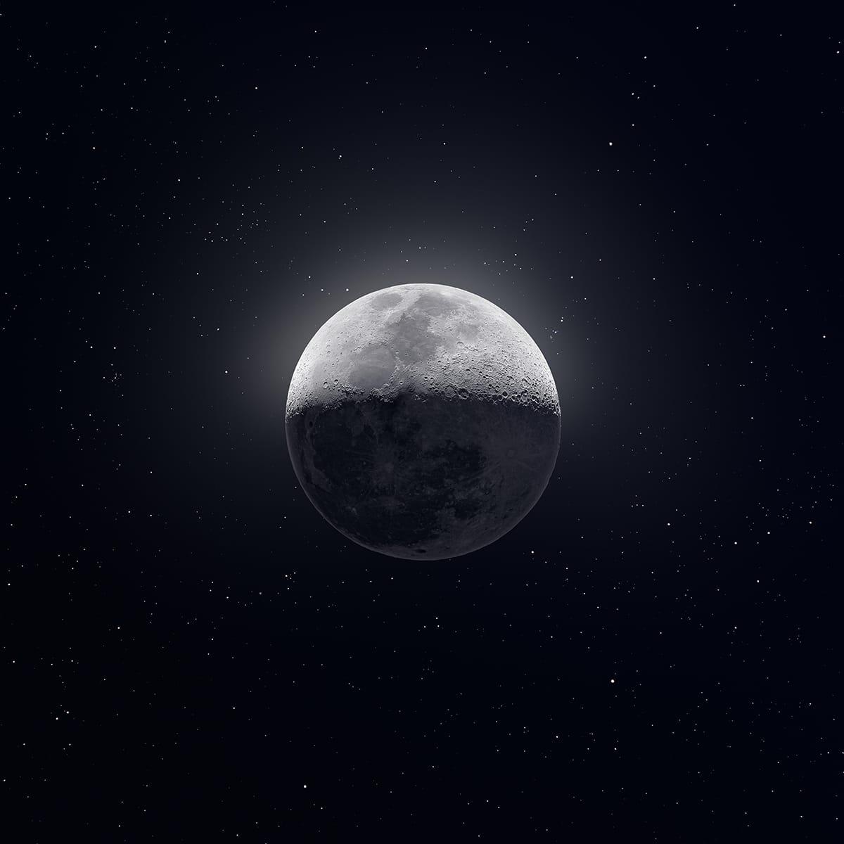 fotografía de la luna astrofotografía
