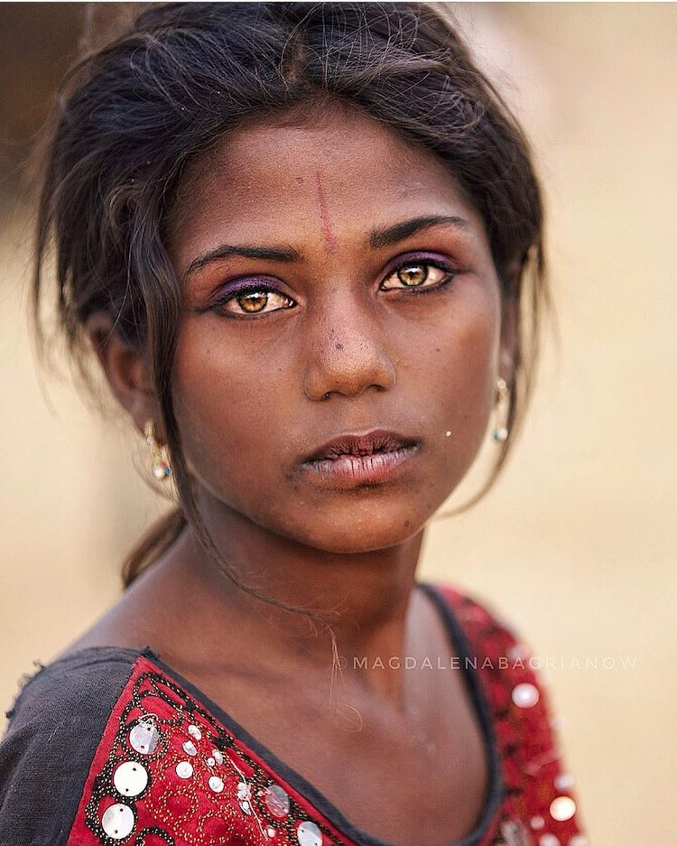 India Portrait Photo by Magdalena Bagrianow