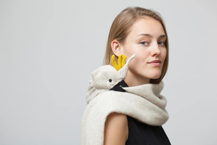 Nina Fuhrer Animal Scarf Bird Scarf