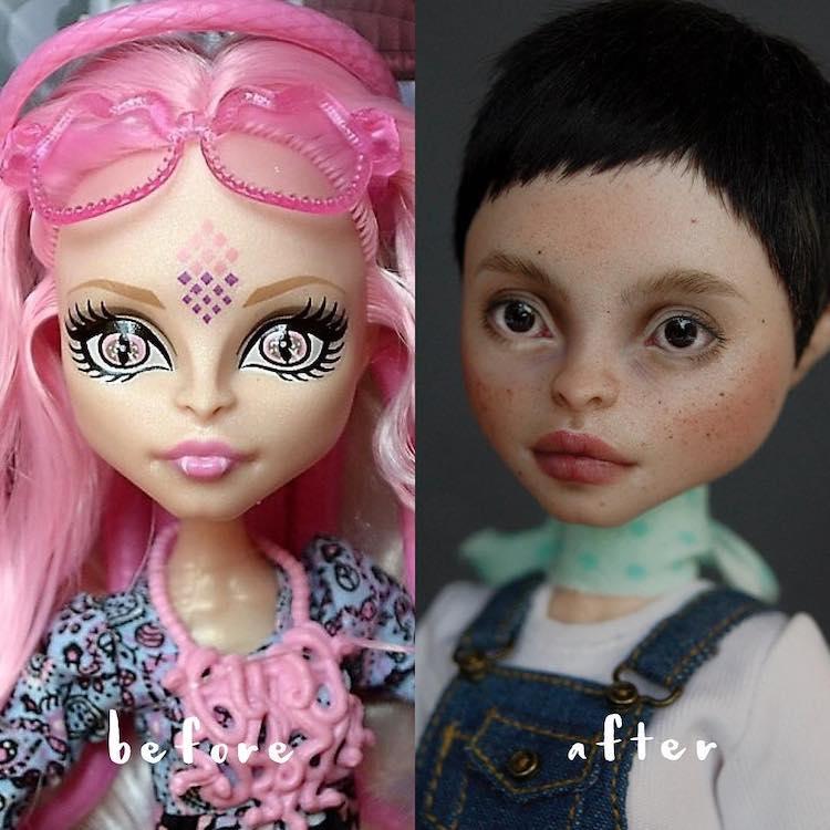 Doll Repainting by Olga Kamenetskaya