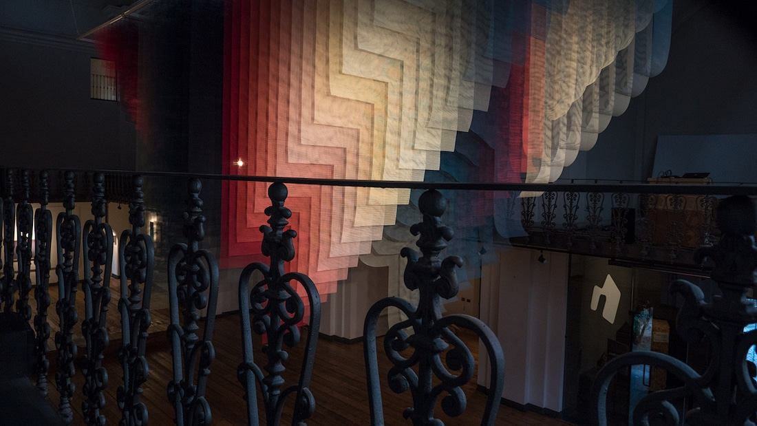 Woven Art Installation Quintessenz Carme Genesis