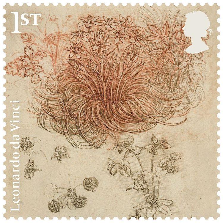 Royal Mail Leonardo da Vinci estampillas postales sellos postales timbres postales