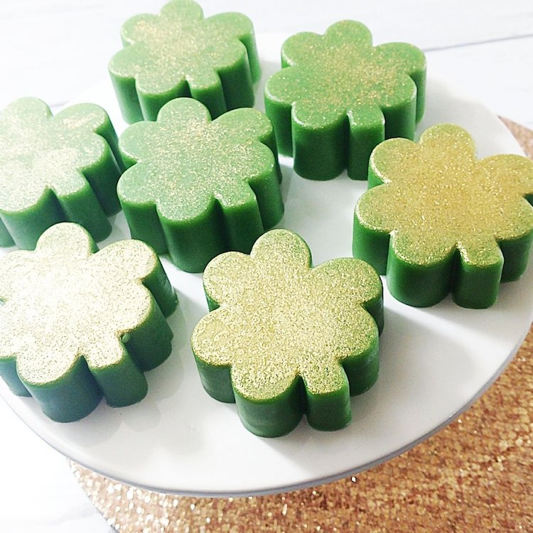 St. Patrick's Day Gifts Shamrock Soap Four Leaf Clover Soap