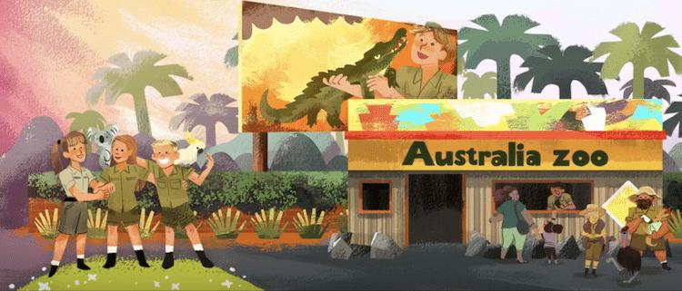 Steve Irwin Birthday Steve Irwin Google Doodle Crocodile Hunter Google Doodle