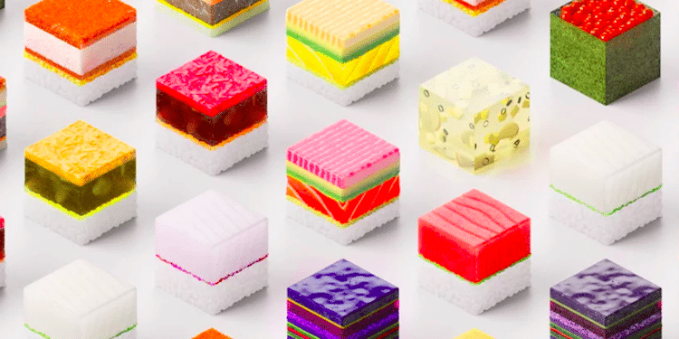 3d-Printed Food by Sushi Singularity