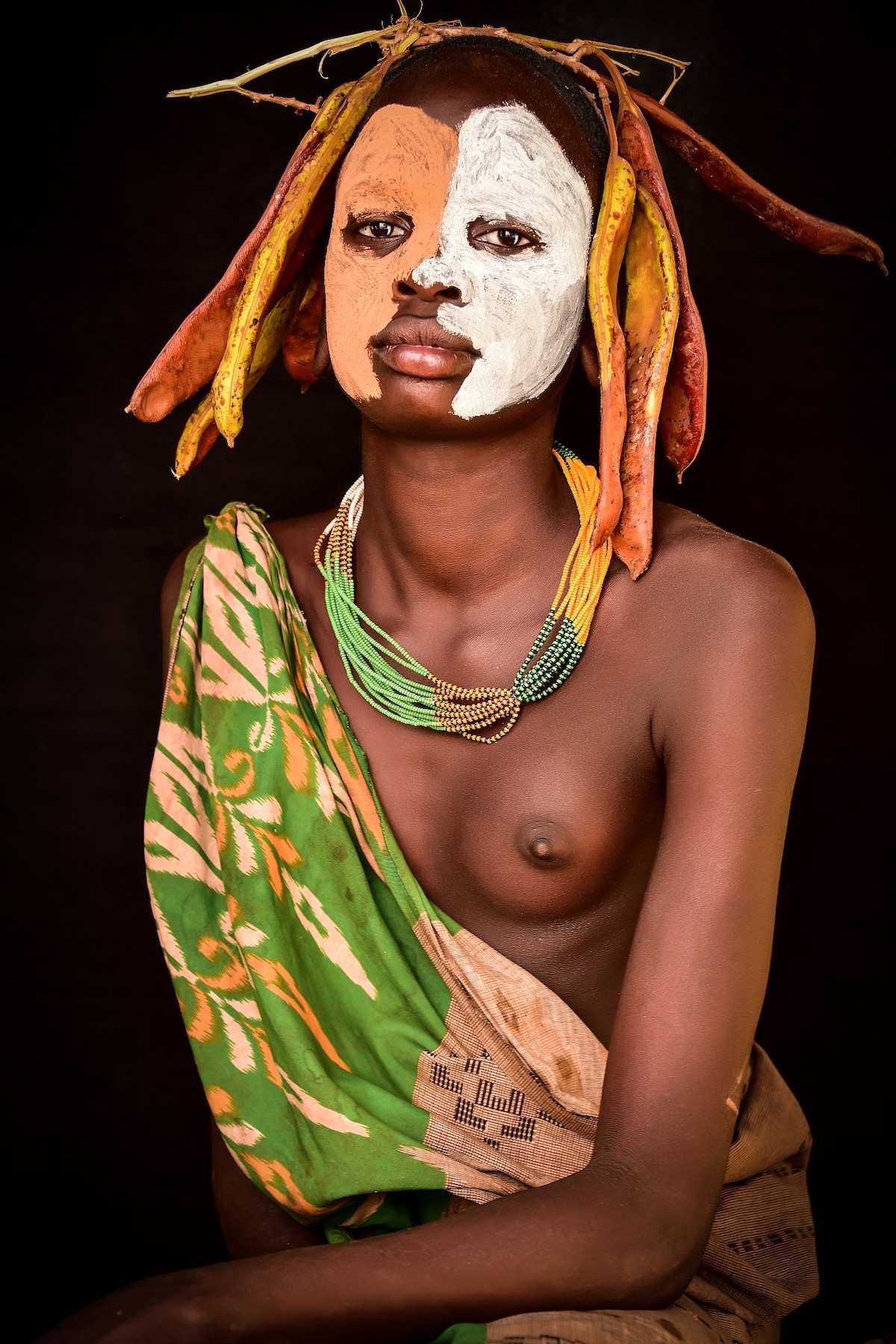 Portrait of Surma Woman