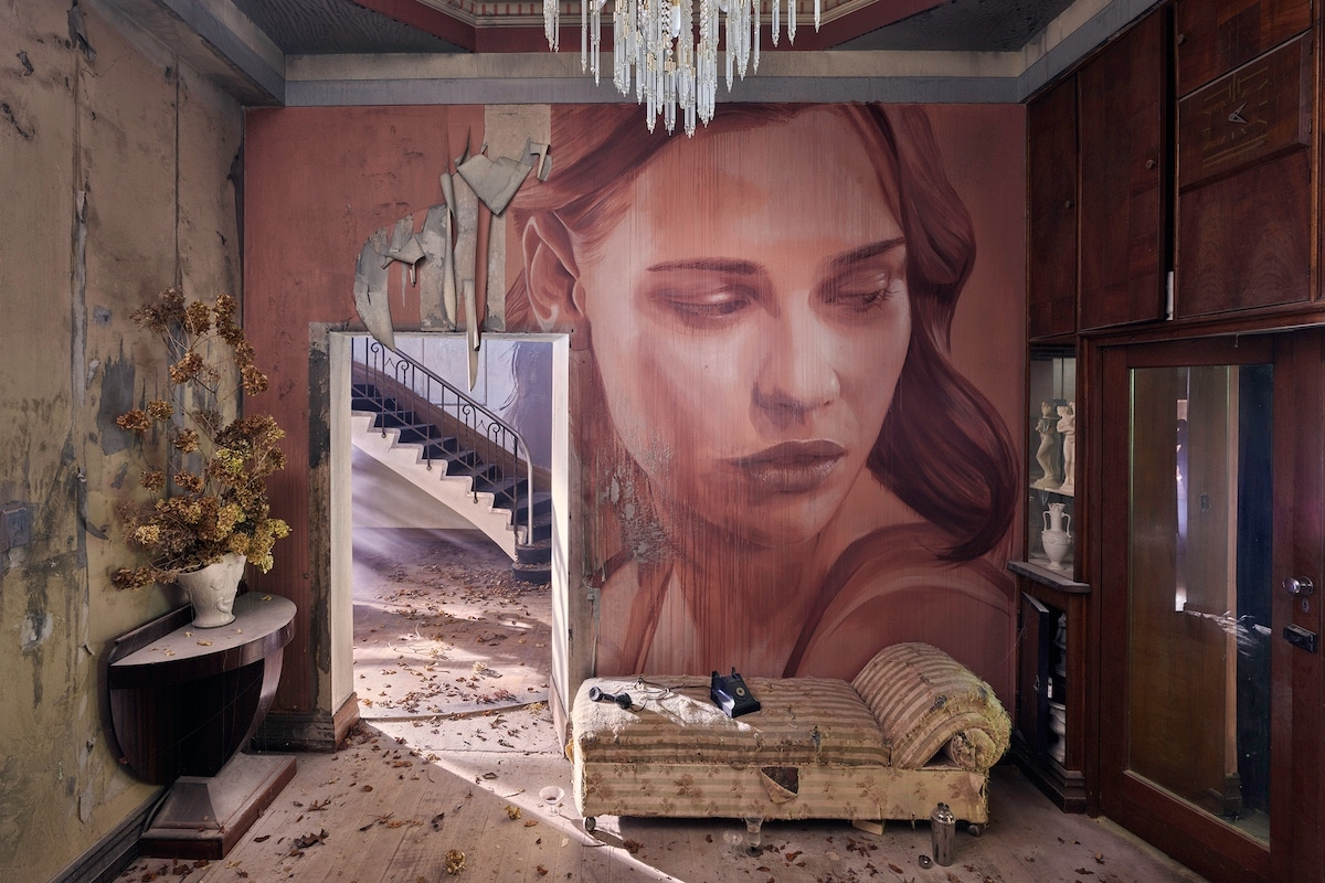 Painted Female Portraits by Rone