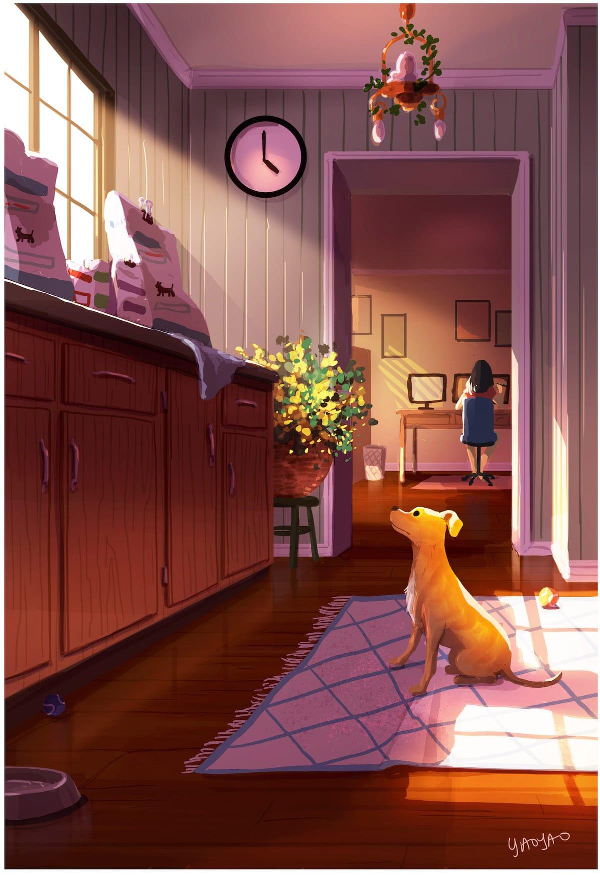 Ilustraciones de perros por Yaoyao Ma Van As