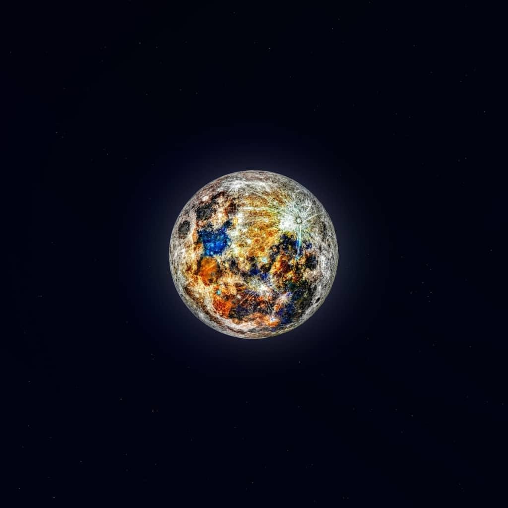 luna de colores