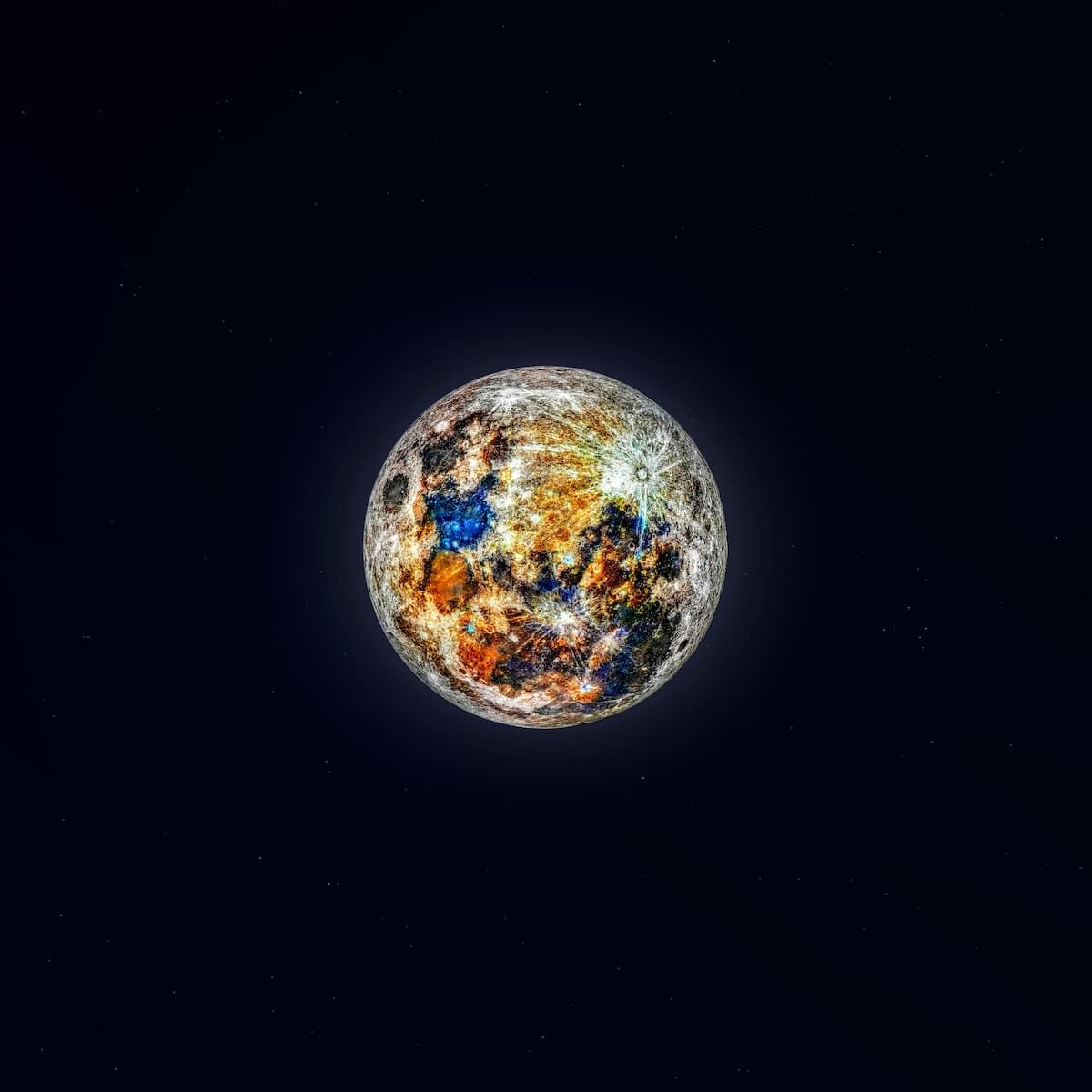 Andrew McCarthy - fotografía a color de la luna