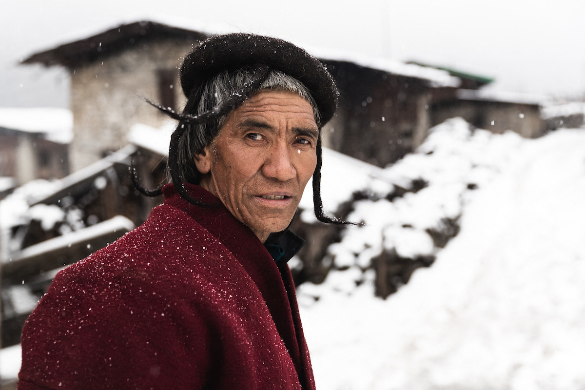Portrait of Bhutanese Man by Andrew Studer