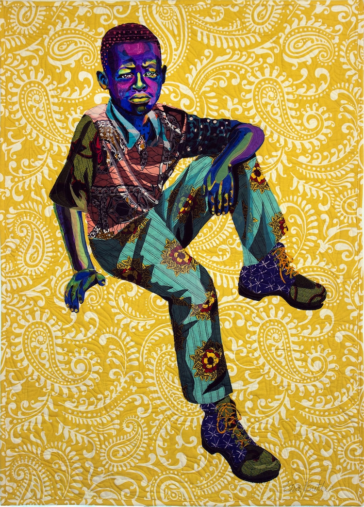 Colorful Portrait Quilts By Bisa Butler Made Out of African Fabric