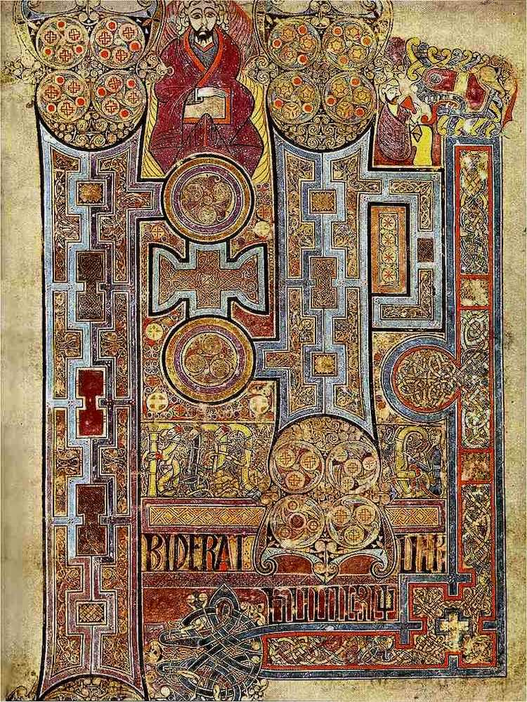 The Book of Kells at Trinity College Dublin