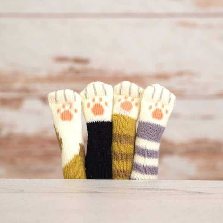 Cat Paw Chair Socks by Bluecrate
