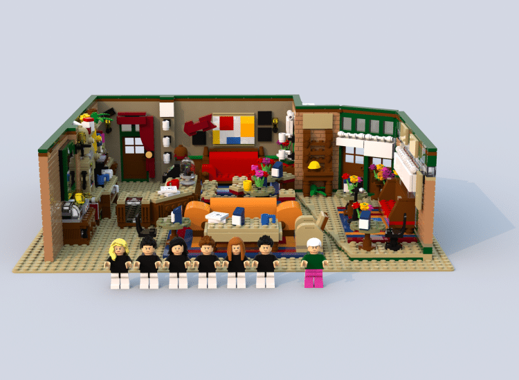 Friends Central Perk Coffee Shop And Cast Made From 1750 Lego