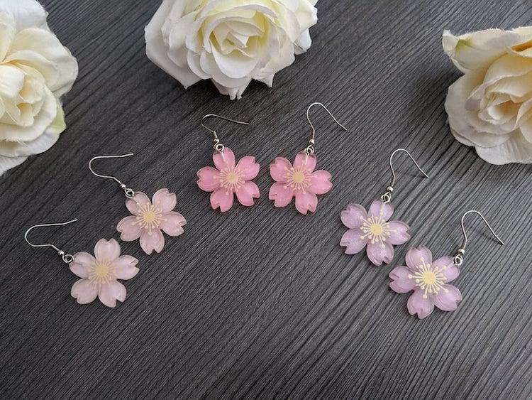 Aretes de sakura