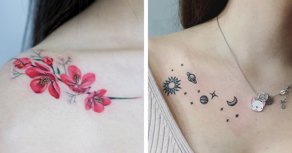 20+ Collar Bone Tattoo Ideas For Your Next Statement ...