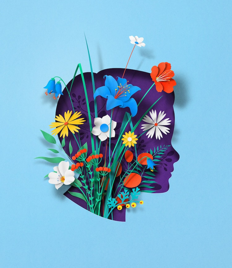 Digital Paper Illustrations by Eiko Ojala