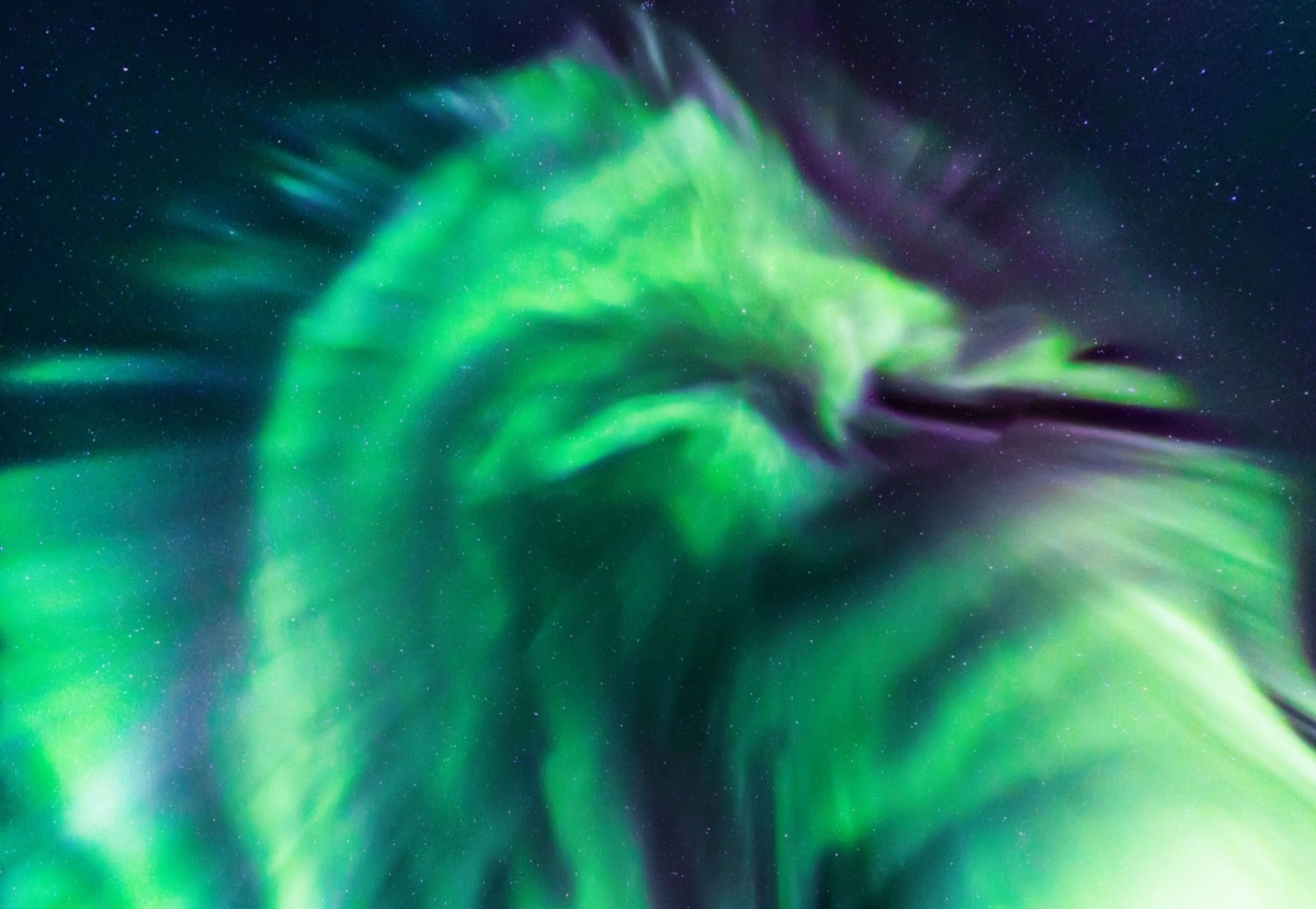 Dragon Shaped Aurora Borealis Photo