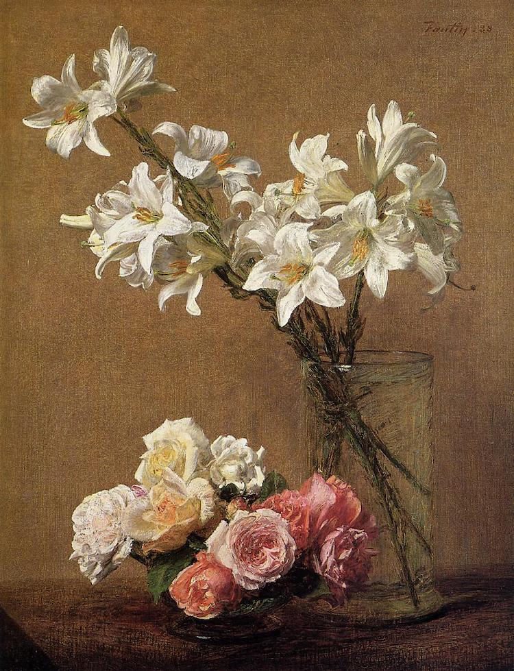 Flower Painting by Henri Fantin-Latour